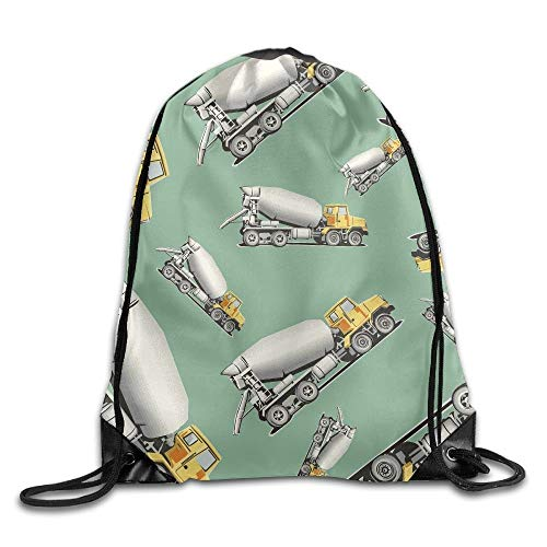 YuYfashions Cement Mixer Unisex Sack Cinch Backpack Gym Drawstring Bags. Beam Mouth Package A769 Rucksack mit Kordelzug