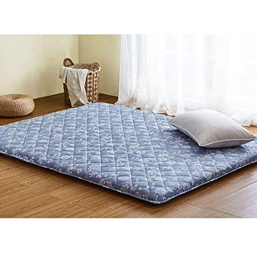 GOPG Tatami Mattress, Japanese-style Folding Floor Mat Fluffy Thick Comfortable Mattress for Bedroom Living Room Camping-C-180x200cm(71x79Inch)