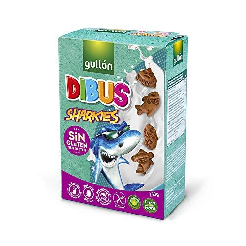 Gullón Galletas sin Gluten Mini Dibus Sharkies, 250g