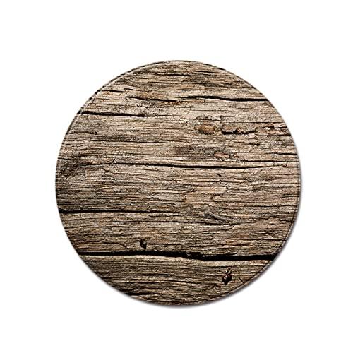 YDyun Tappeto Salotto Moderno Soggiorno Tappeto Circolare a Grana d'albero con venature del Legno...