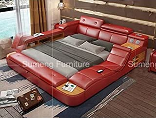bed with storage and speakers