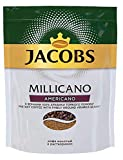 Natural Jacobs Millicano Americano Coffee, instant with the addition of ground coffee in an economical plastic package 130 gr | Растворимый Кофе Jacobs Millicano Americano