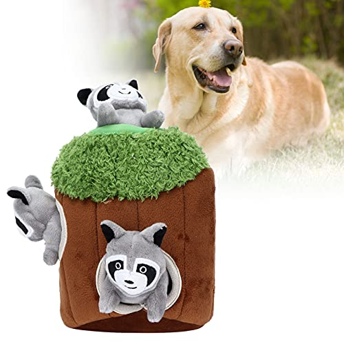 Eulbevoli Juguete Squeaky Plush Puzzle, Interactivo Squeaky Dog Toys Juguetes interactivos para Perros Hide-and-Seek Safe para Perros Squeaky Plush Toys Hide and Seek Games Intereactive