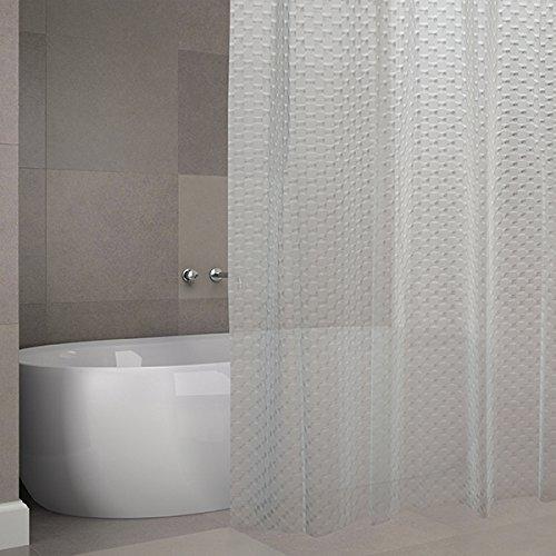 "MSV Cotexsa by Premium Anti-Schimmel Eva 3D Duschvorhang - Anti-Bakteriell, waschbar, 100prozent wasserdicht - ""Bombay"" 180x200cm – Made in Spain"