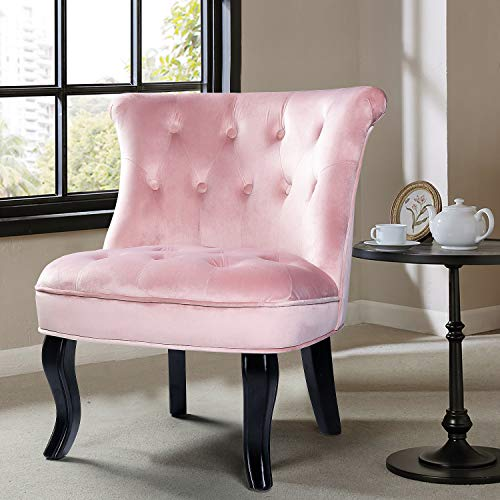 Pink Tufted Slipper Chair
