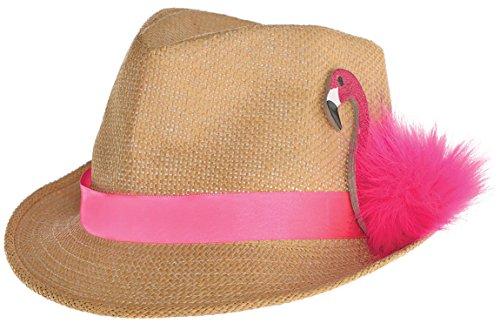 Amscan 3900056 Filzhut Flamingo