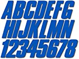 Stiffie Shift Blue 3' ID Kit Alpha-Numeric Registration Identification Numbers Stickers Decals for Boats & Personal Watercraft