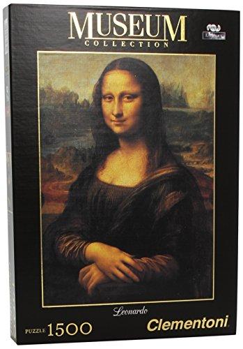 Clementoni - 31974 - Puzzle Museum Collection Leonardo - Gioconda, 1500 Pezzi