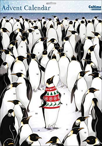 Caltime Ltd Weihnachtspullover Pinguin Adventskalender