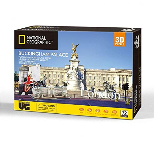 University Games- National Geographic Buckingham Palace-Puzzle 3D, Multicolore, 72 pcs, PLG7675