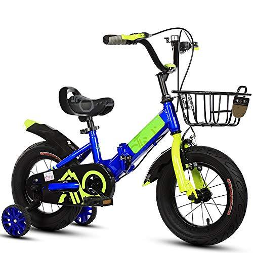 YUMEIGE Bicicletas Bicicletas 12 14 16 18 20 Pulgadas, Bicicleta Infantil Plegable Desde 5 Segundos, Bicicleta para niña con Ruedas de Entrenamiento, Regalo 2-15 años Disponible