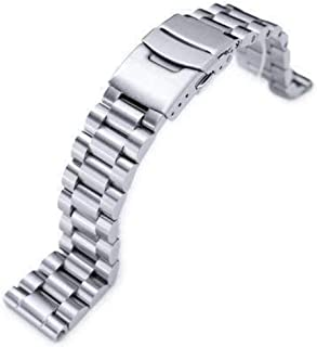 Strapcode Watch Bracelet 20mm Endmill Solid 316L Stainless Steel Watch Bracelet, Straight End