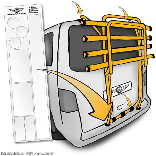 Lackschutzshop Universal Lackschutzfolien XXL-Set für Auto-Heckträger - Selbstklebende, transparente Schutz-Pads für Fahrrad-Träger - Klebe-Folie