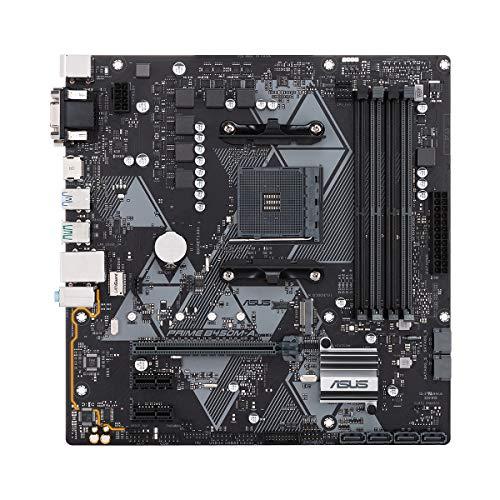 ASUS Prime B450M-A Micro ATX Motherboard, AMD Socket AM4, Ryzen 3000 Ready, PCIe 3.0, M.2, DDR4, LAN, HDMI, DVI-D, D-Sub, USB 3.1, Aura Sync RGB Header