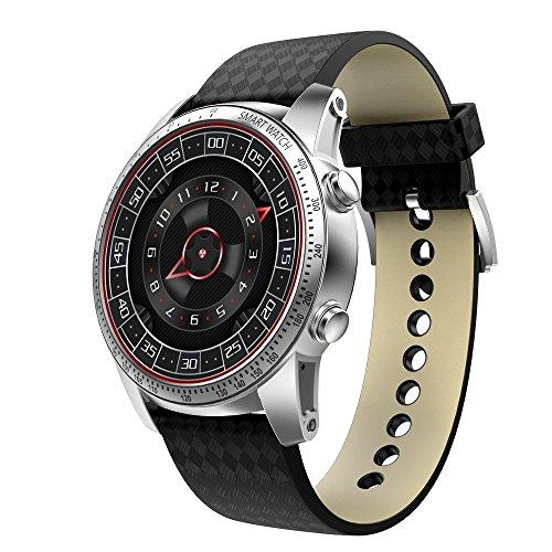 Outdoor-Smartwatch KW99 1,39 Zoll AMOLED-Display mit Bluetooth-Smart-Watch, Unterstützung für Schrittzähler/Echtzeit-Herzfrequenzmonitor/Push-Informationen/GPS-Navigation, Kompatibel mit Android