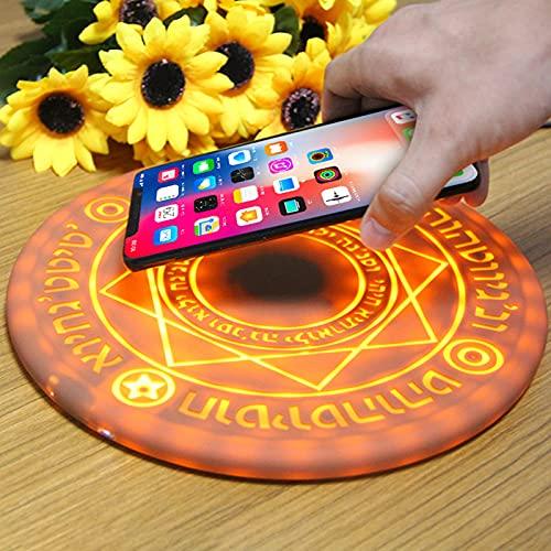 XYEJL Magic Row Wireless Charger 10w Almohadilla De Carga Rápida Ultradelgada con Luz Led Colorida Fantásticos Efectos De Sonido para Teléfono Samsung Universal Cell Phone/Otros Dispositivos Qi