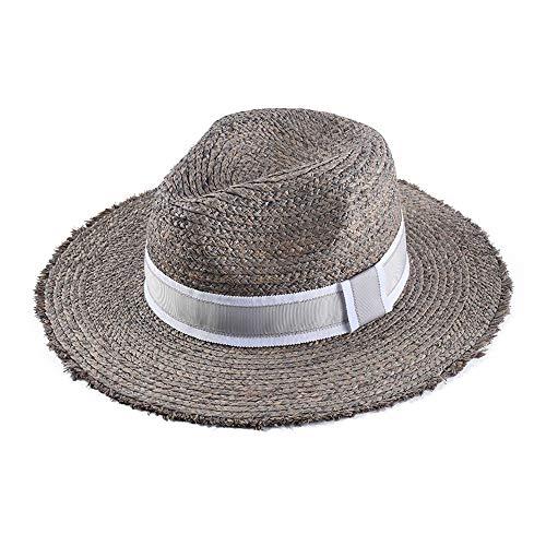 Cappello Accessori giornaliera Tesa Larga Sun Hat Primavera e Estate Nuovo Flash Standard Big Cappello di Paglia Grigio Cappello Moda Femminile da Spiaggia Mare