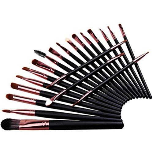 Flybloom Pinceaux De Maquillage De Base Set Brosses pour Le Visage Cadeaux Anti-Cernes pour Femmes Professionnelles (Café Noir)