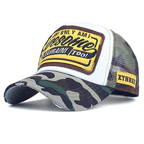 Gorra de béisbol de Verano Gorra de Malla Sombreros para Hombres Mujeres Snapback Gorras Hombre Gorras Casual Hip Hop Gorras Dad Casquette-camouflage-56TO61CM