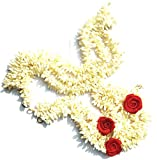 Pretty Charming Hair Gajra Veni in White Red 13 Inch long for Hair Set of 12, 6 Red and 6 White with a surprise Freebie