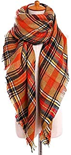 Double-sided Scarf Autumn And Winter Plaid Scarves Scarf Shawl Blanket Increase