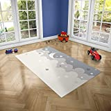 Oedim Alfombra Infantil Luna y Estrellas para Habitaciones PVC | 95 x 165 cm | Moqueta PVC | Suelo vinílico | Decoración del Hogar | Suelo Sintasol | Suelo de Protección Infantil |