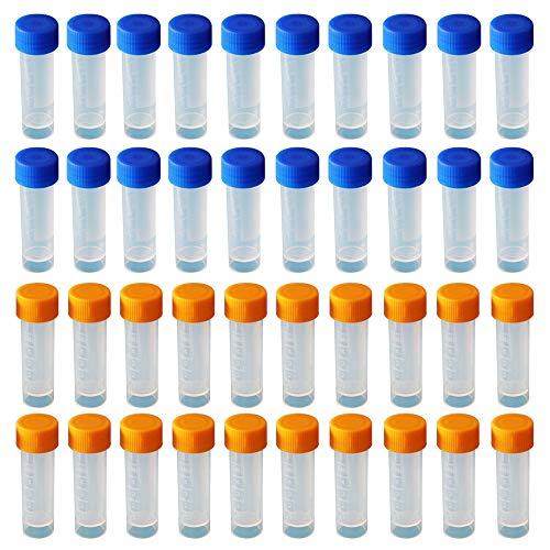 Limeow Kunststoff Kryoröhrchen Absolvierte Kryoroehrchen Reagenzglasprobe Plastikröhrchen Reagenzglas Reagenzgläser Probenröhrchen Probierrohr 40 Stück