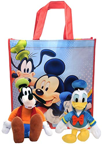 """Disney 11"""" Plush Mickey Mouse Friends 2-Pack in Gift Bag (Donald Duck & Goofy)"""