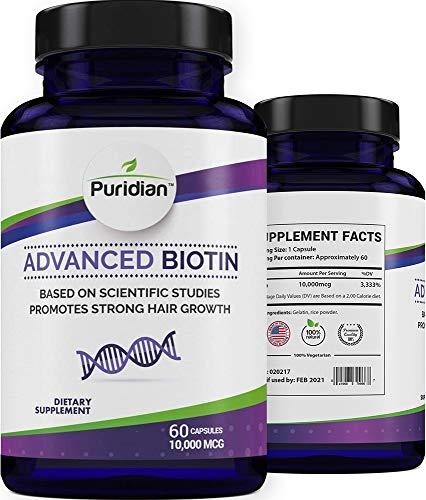 Vitaminas para El Cabello Con Biotina 10000 Mcg para Crecimiento Rapido De Pelo Grueso Y Saludable Estas Pastillas Ayudan A Prevenir La Caida Del Cabello