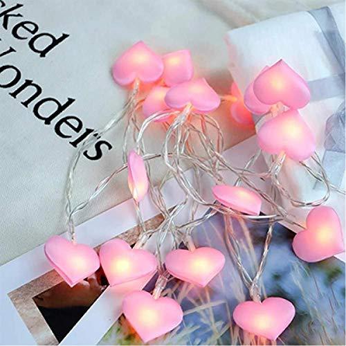 WEDFGX 10Leds 20Leds 40Leds Amor Corazón Boda Led Luces de Hadas Cadena Linterna Romántica Boda Evento Fiesta Jardín Guirnalda Iluminación
