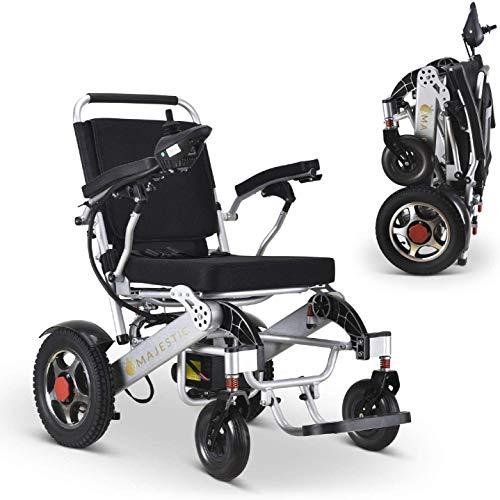 Find Bargain 2020 Model Wide Seats Fold & Travel Lightweight Wheelchair Motor Motorized Wheelchairs ...