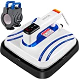 VEVOR Portable Heat Press 10x10 Inch Easy Press 800W Mini Heat Press with Mug Press Attachment Automatic Heat Press Machine for T Shirts Bags Mugs and Small HTV Vinyl Projects(Blue)