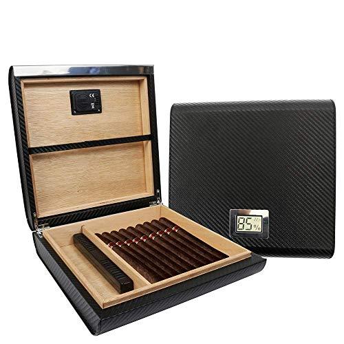 MoonlightMakers Caves à Cigares Monsiter cigares Cigares avec Digital et hygromètre Humidifier High Grade de Stockage de cigares en Bois for 10-20 Cigares