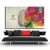 Puzzle 1000 piezas Diferencia del cerebro izquierdo y derecho pintura pintura arte educación pintura decorativa puzzle 1000 piezas educa educativo divertido juego familiar par50x75cm(20x30inch)