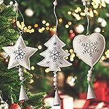 Gudotra 6 pcs Adorno de Navidad Decoraciones Navideñas Colgantes de Metal...