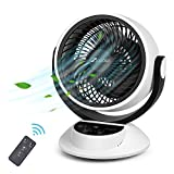 Air Circulator Fan, Cooling Fan Air Circulator with Powerful Airflow, Timing, LCD Touch Screen, 3-Speed Mode, Remote Control, Quiet Air Cooler for Home Bedroom Office