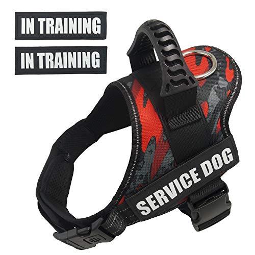 Dihapet Dog Vest Harnesses, Service Dog Vest, No Pull Service Dog Harness Reflective Adjustable Soft