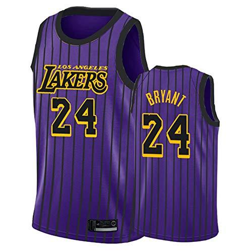 Ropa de baloncesto para hombre, Los Ángeles Lakers 24 # Kobe Bryant Swingman Nba Jersey, deportes al aire libre Uniformes de baloncesto Camiseta sin mangas Camiseta deportiva Chaleco superior,C,XL
