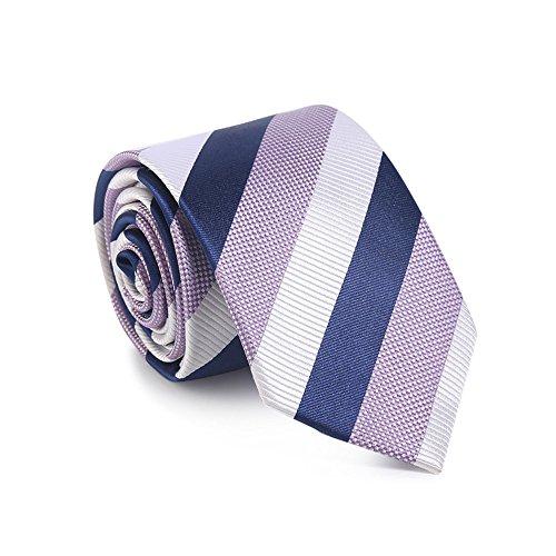 Necktie WERLM Corbata de seda de los hombres 7 cm tela de seda vestido de negocios coreano novio de la boda padrino de boda corbata de sarga de seda tricolor 7 cm