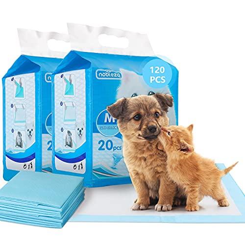 Nobleza - 120 x Empapadores Perros Alfombrilla higiénica de Entrenamiento para Perros. Ultraabsorbente 60cm*60cm