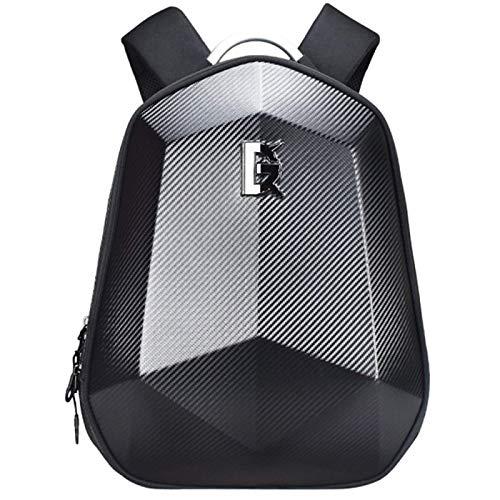 Anno fiber shell hard style Carbon backpack waterproof bag black motorcycle shoulder (5859)