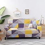 Fundas Protectoras de sofá geométricas Sala de Estar Fundas elásticas elásticas para sofá de Esquina seccionales A11 1 Plaza