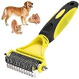 Aquatic Human Pet Grooming Brush, Pet Dematting Comb, Slicker Dog Brushes/Deshedding Comb, Suitable for Medium and Long Haired Dogs Cats (Dematting Comb)