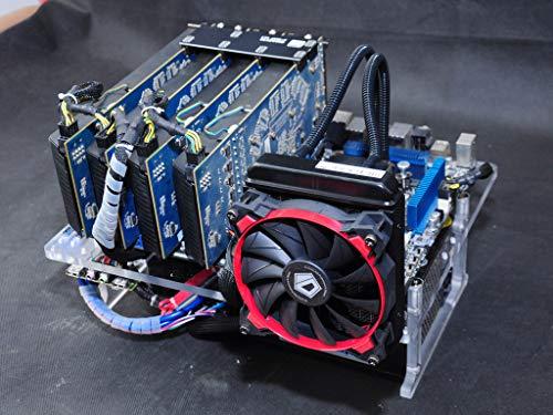 シルバーベンチケースベンチコンピューターケース ATXアルミニウムDIYベアフレームサポートグラフィックカードマザーボード用 – PCコンポーネントは含まれていません