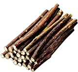 nuoshen 30 Pcs Chew Sticks for Cats, Catnip Sticks Cat Sticks Cat Chew Toy Cat Teething Toys Natural Wood Sticks for Cats Play and Relax