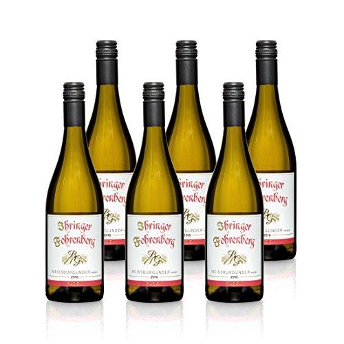 Weißer Burgunder - Ihringer Fohrenberg 2016 | Weißwein aus Deutschland | Trocken & Weiß | WBK Glatt | Fruchtig Pikant im Geschmack (6 x 0,75l)