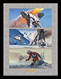 30 x 40 cm de la Guerra de Las Galaxias Batalla de Hoth impresión enmarcada