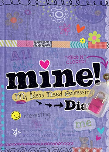 Mine Diary - girls 8 and up - sparkly lock and keys - illustrated and fun activities
