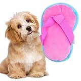 Giochi con Squeak per Cani LLMMZD Peluche per Cani Giocattolo Forma della Scarpa Interattivi Giochi da Masticare e per Cani - Cotone Naturale