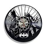 wtnhz Reloj de Pared con Disco de Vinilo LED Reloj de Pared de Vinilo Vintage Movimiento de Cuarzo Pared de Estilo clásico Hecho a Mano en Vinilo